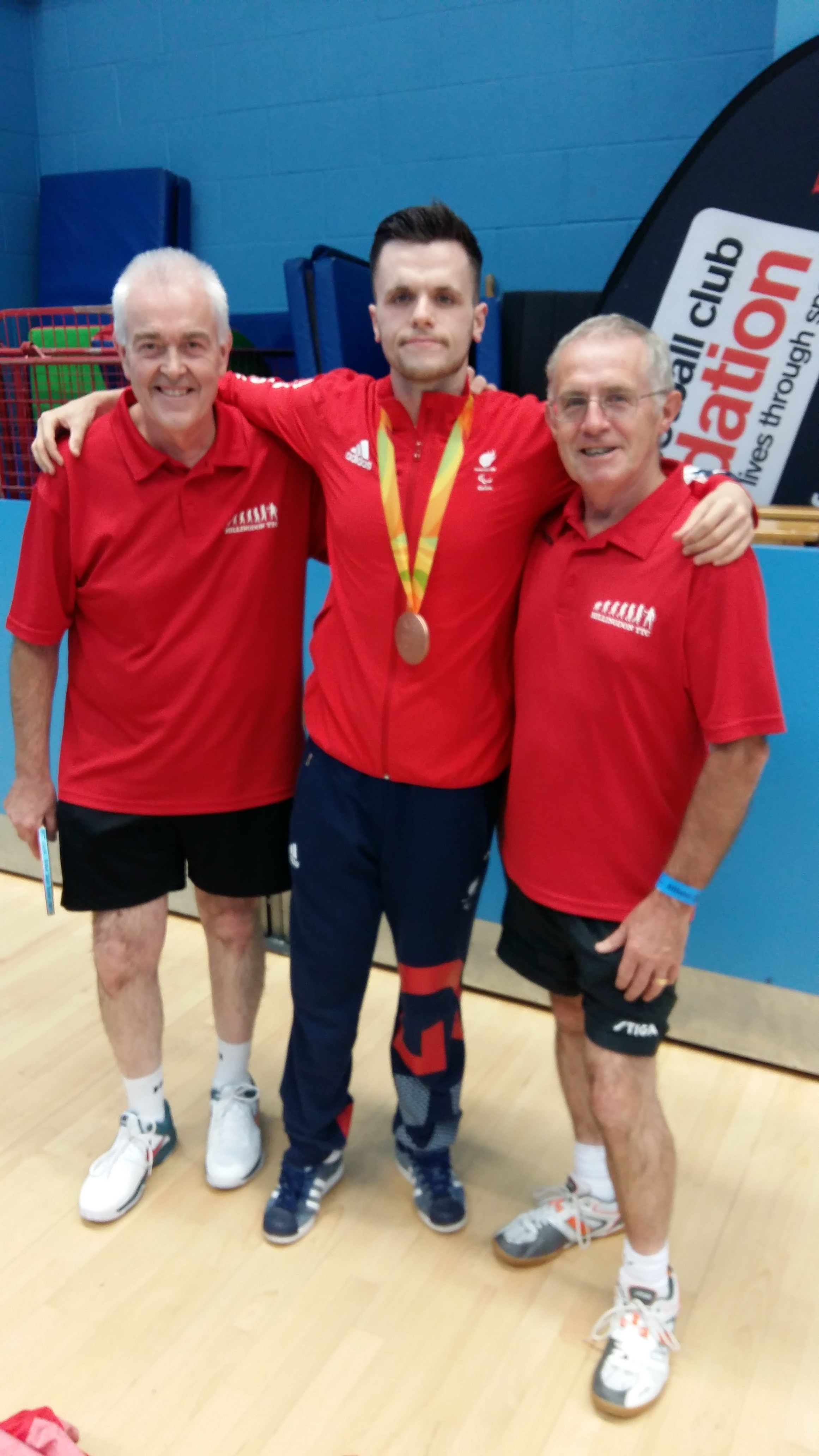 Ron and George with Aaron McKibbin - A member of the British team that won the bronze medal